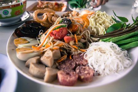 somtum: Som-Tum Thai food Stock Photo
