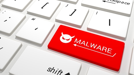 personal data privacy issues: Malware key on Keyboard