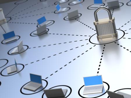 Secure Network Foto de archivo