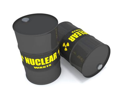 2 drums containing nuclear waste.