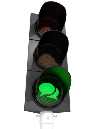 Traffic light showing a