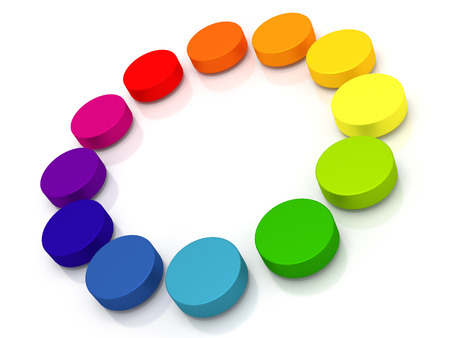 Circle of circles - Circle created of colored circles.