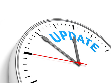 Clock Update - Clock containing the text update. Stock Photo - 41781240