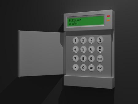 Burglar Alarm Dark - A Burglar Alarm isolated on a dark background.