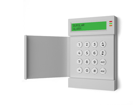 Burglar Alarm Light - A Burglar Alarm isolated on a white background. Standard-Bild