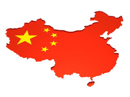 China Map - Map of the People Republic of China in 3D.