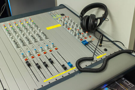 buttons equipment for sound mixer control