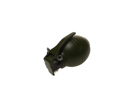 shrapnel: Hand Grenade on white background,isolated cut out