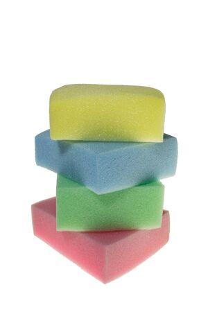 sponge on a white background photo