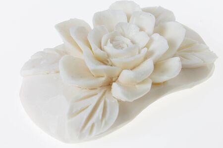 whitebackground: carving soap on whitebackground Stock Photo