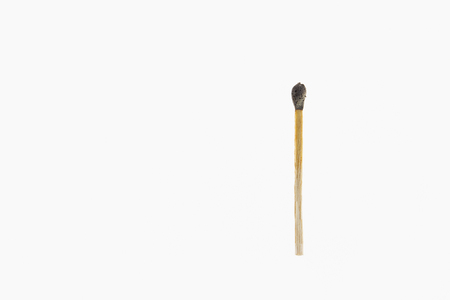 burnt: Burnt match stick isolated