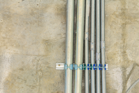 junction pipe: Metal pipes electrical distribution system installation.