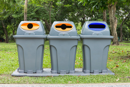 lumpini: Three type of trash bin,Recycle in the park