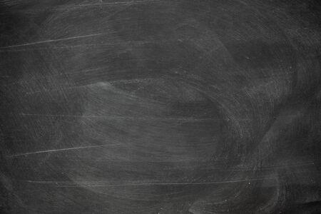Texture of chalk rubbed out on blackboard or chalkboard background. School education, dark wall backdrop or learning concept. Standard-Bild