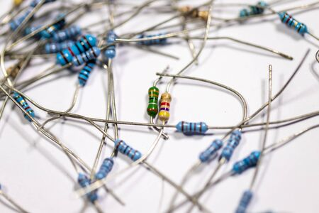 Electronic circuit Resistor, used for wallpaper, used as illustrated book,closeup