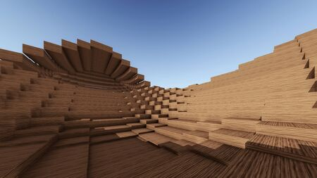 leveling: Wood Pixelated Surfaces with Offset Leveling  Stock Photo