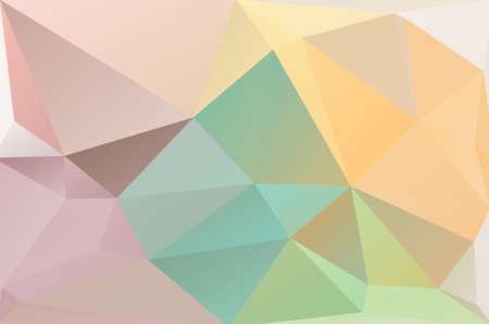 Pastel polygon geometric with  triangle parametric shape photo