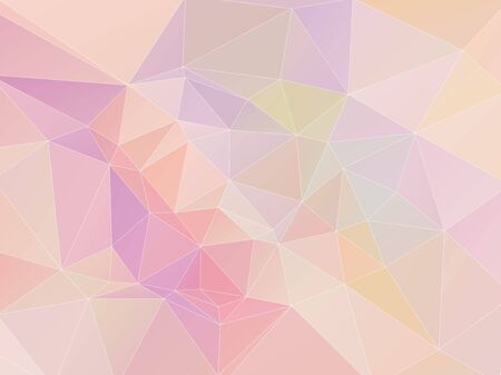 fragmented: Pastel polygon geometric with  triangle parametric shape