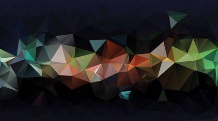 Abstract geometric polygon pattern Stock Photo