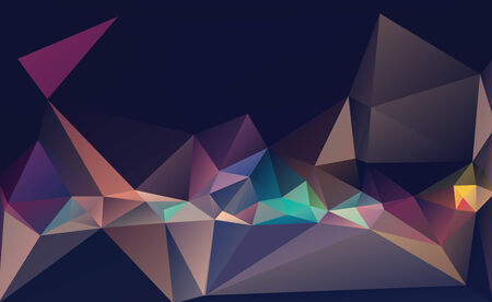 Abstract geometric polygon pattern Stock Photo