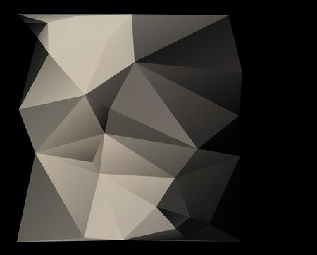 constructivism: constructivism geometric background with  triangle parametric shape Stock Photo