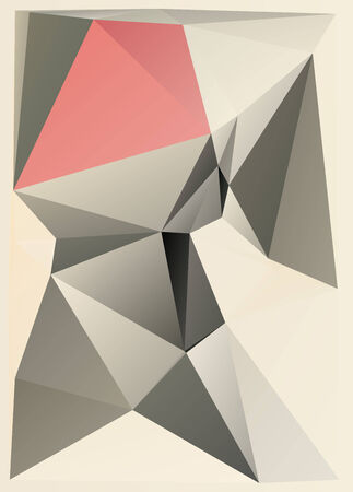 parametric: constructivism geometric background with  triangle parametric shape Stock Photo