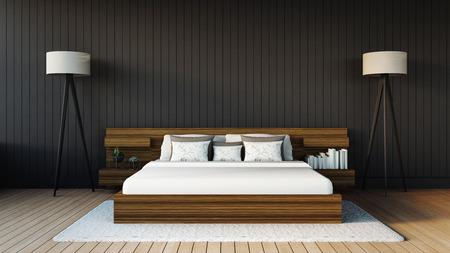 chambre � coucher: Chambre � coucher moderne Banque d'images