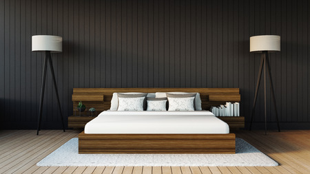 Moderne slaapkamer Stockfoto