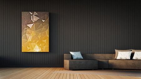 The modern interior of living Stockfoto