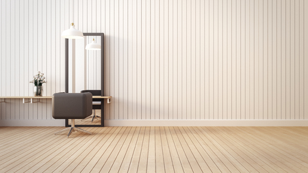 Modern & living salon interior / 3D render image Archivio Fotografico
