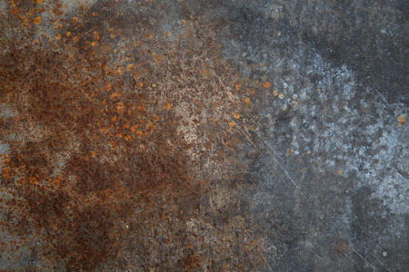 Rusty metal barrel texture detail  Scratched paint and rust  Abstract background  photo