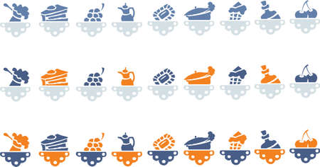 Food icons set for a restaurant or cafe