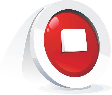 boton stop: Ilustraci�n 3D de bot�n de parada.