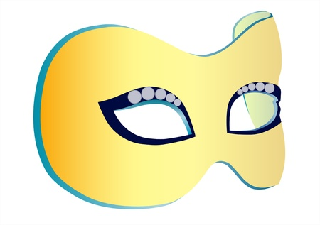The illustration of the theater mask in vector, on white background Illustration