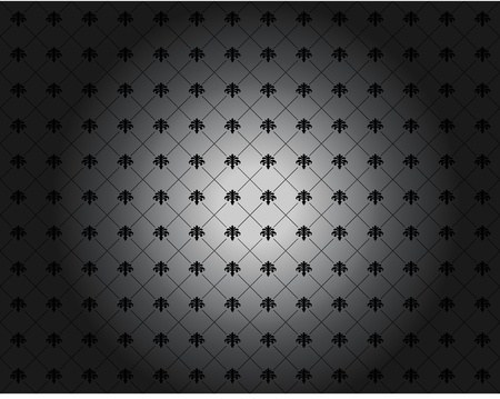 Seamless wallpaper pattern, black, in vector format Illustration