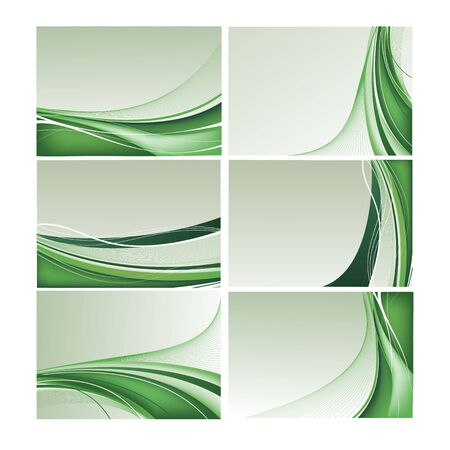 Abstract vector background set in green color Illustration