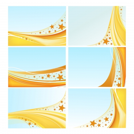 Set of abstract sea backgrounds with starfish in vector Stock Vector - 14227930