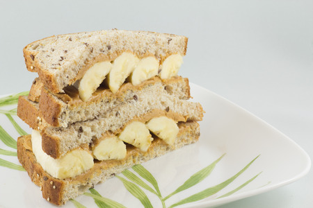 banana: peanut butter and banana sandwich