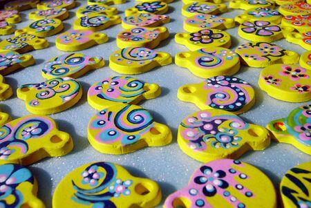 floral coloured ceramics Stock Photo - 2571357