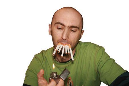 smoker Banco de Imagens
