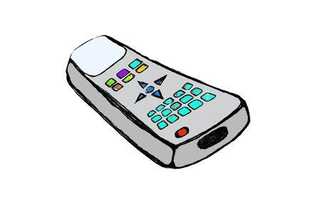 controlling: cartoon remote control Stock Photo