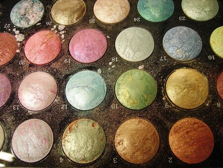 irridescent: Make Up Artists Palette Stock Photo