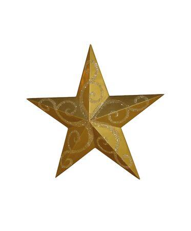 Golden Christmas Star Stock Photo - 3958412