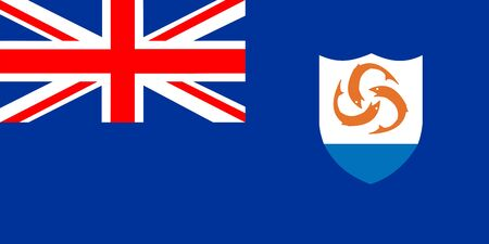 anguilla: flag of Anguilla