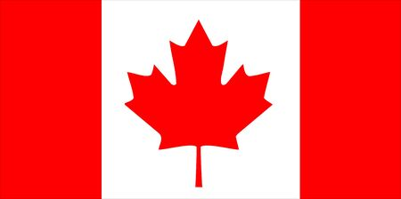 flag: Flag of Canada national country symbol illustration Stock Photo