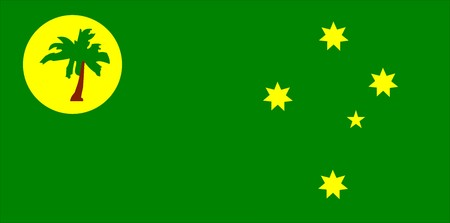 cocos: 2D illustration of the flag of Cocos islands vector