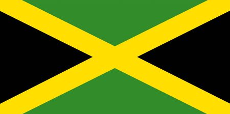 national flag of jamaica - computer generated image Stock Photo - 4106652
