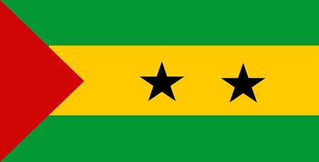 principe: Ilustraci�n 2D de la bandera de San Tom� Y Pr�ncipe
