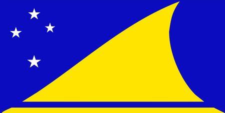tokelau: 2D illustration of the flag of Tokelau Stock Photo