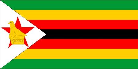 zimbabwe: Flag Of Zimbabwe Stock Photo